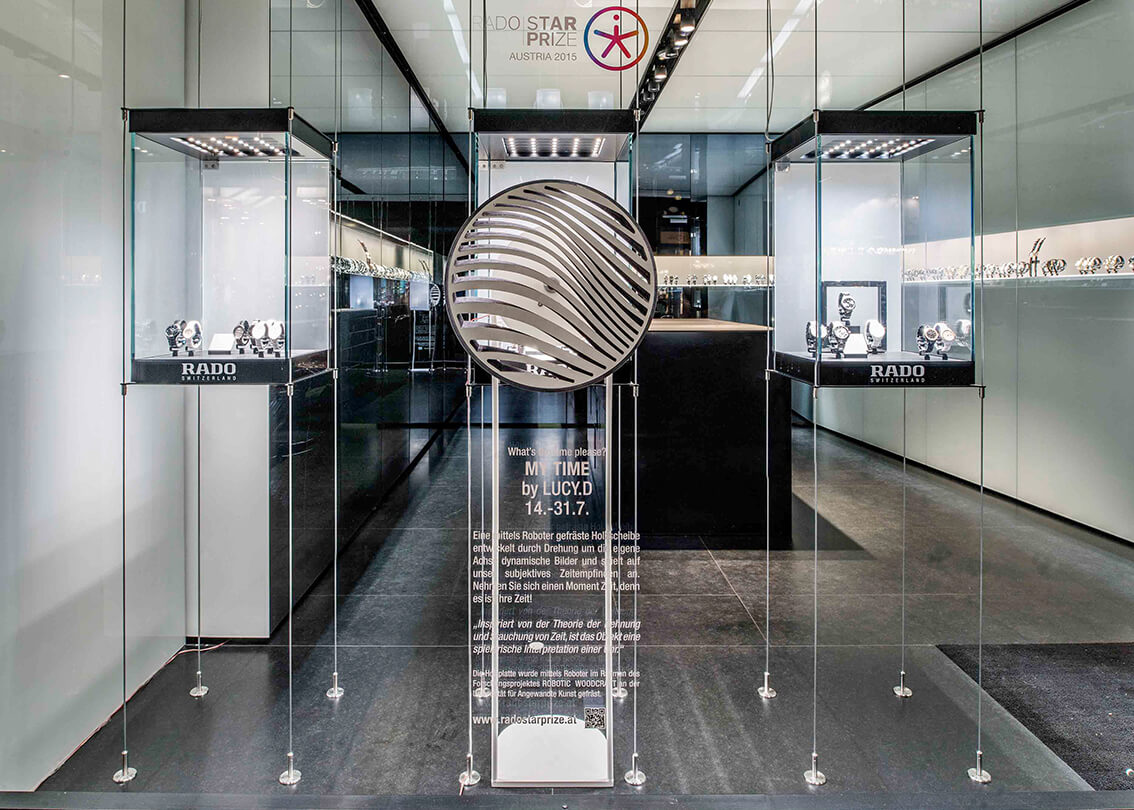14 July 2015<br>MY TIME | INSTALLATION<br><strong>RADO STAR PRIZE 2015</strong><br>Rado Boutique, Kärntnerstrasse 18 | 1010 Vienna (AT)<br>